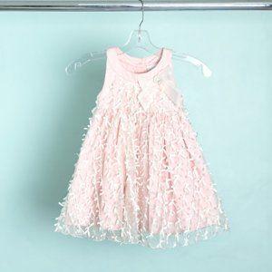 Heirlooms By Polly Flinders Pink Dress Siz…